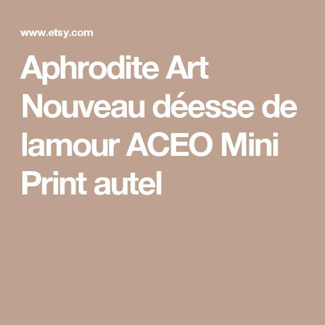 Aphrodite Art Nouveau déesse de lamour ACEO Mini Print autel