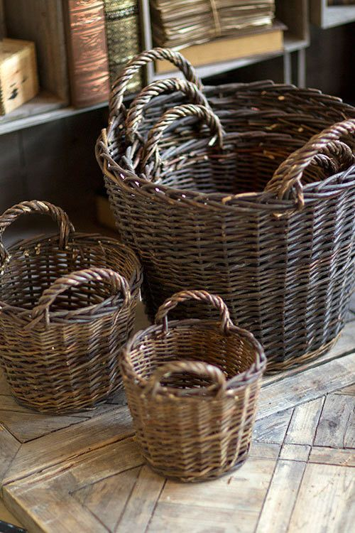Willow Round Nesting Baskets