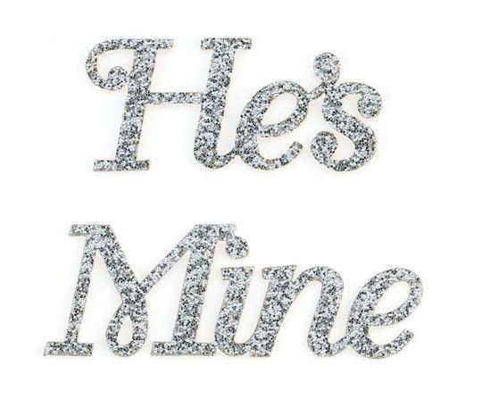"""Lillian Rose """"He's Mine"""" Shoe Sticker"""