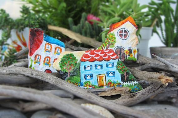Home sweet home magnets 3 piece decorative by CanitinLivingStones