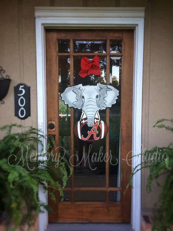 """24"""" Alabama Elephant Football Door Hanger 