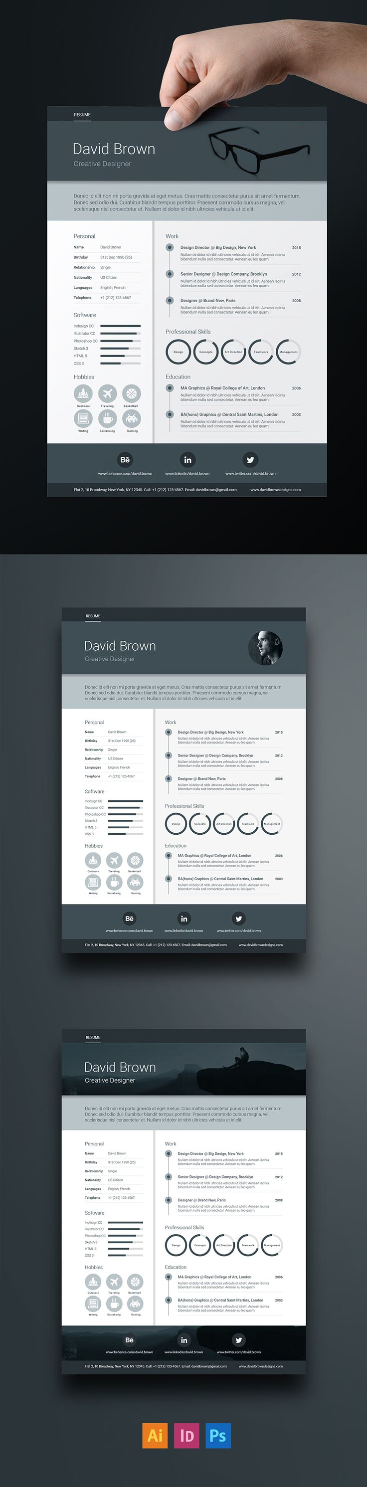 Free Material Resume template is inspired by