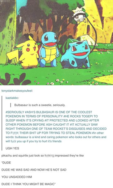 bulbasaur pokemon tumblr funny
