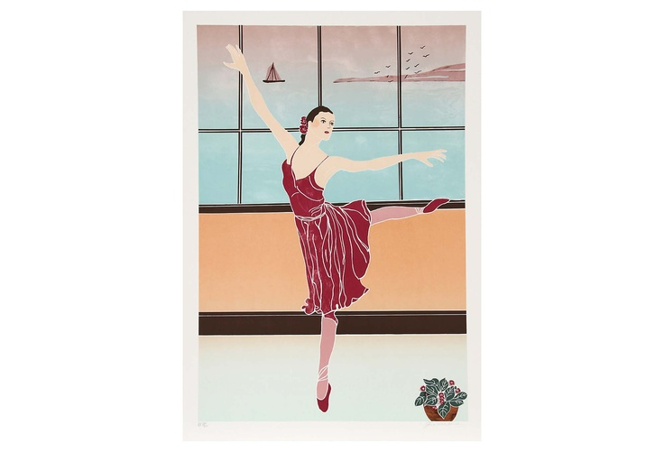 Gina Lombardi Bratter, American Details:Solitary Dancer, 1980; lithograph, signed and numbered in pencil; edition of 30, AP