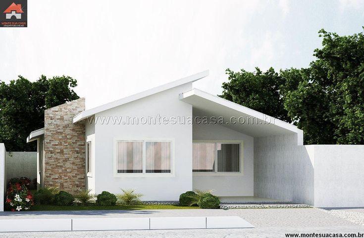 Planta de Casa - 3 Quartos - 83.02m² - Monte Sua Casa