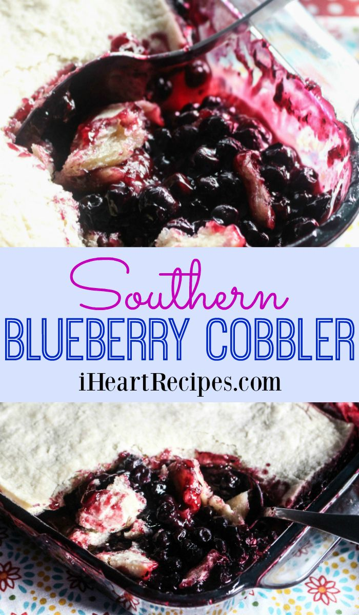 Southern Blueberry Cobbler | I Heart Recipes
