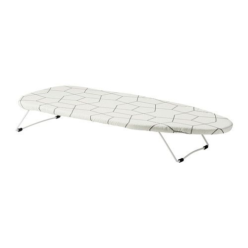 LAUNDRY IKEA - JÄLL, Tabletop ironing board, Space saving as you can put it on the table and when you are finished, you can just hang it up with the hook underneath on a door or in the wardrobe.Extra stable and durable because the frame and base are made of steel.