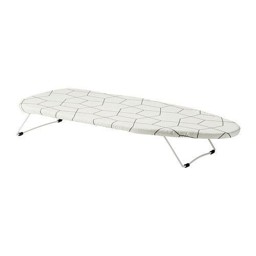 IKEA - JÄLL, Papan setrika, meja, Menghemat ruang karena anda dapat meletakkannya di meja dan ketika selesai, anda bisa menggantungnya dengan kait di bawah pintu atau di lemari pakaian.Lebih stabil dan tahan lama karena bingkai dan bagian dasar terbuat dari baja.