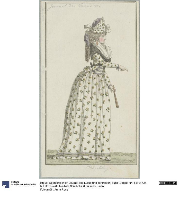 SMB-digital   Journal des Luxus und der Moden, Tafel ?, March, 1793.