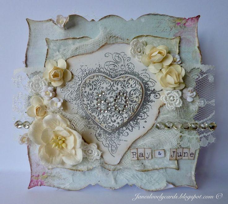 A Diamond Wedding Anniversary Card - Jane Johnson - Stempelglede :: Design Team Blog