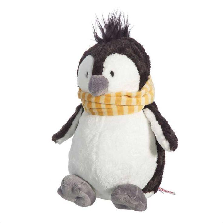 Nici peluches online. Peluche pingüino Jori de Nici. Suave al tacto, detalles cuidados y original diseño. Calidad en los materiales. Medidas 25x16x12 cms.