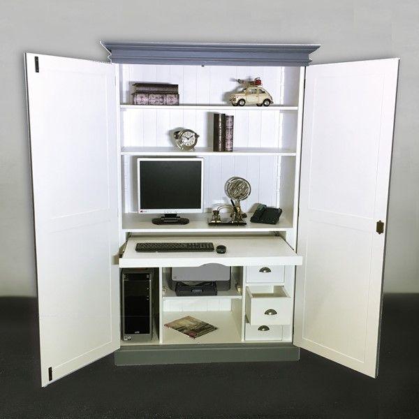 Pc Schrank Amelia Fichte Massiv Pc Schrank Computerschrank Schreibtisch Schrank