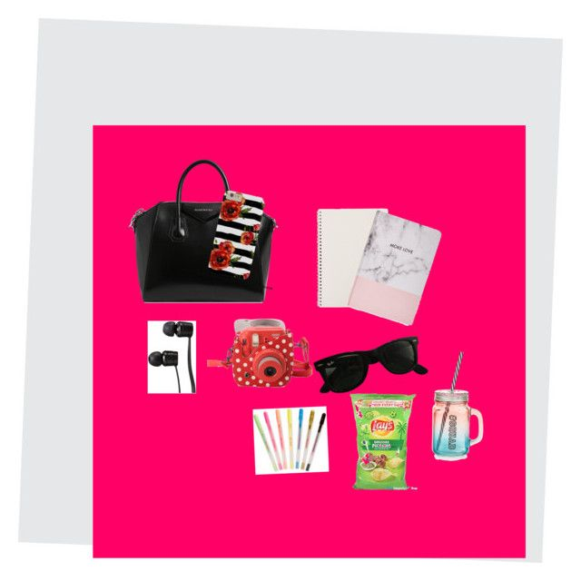 """""""In my bags"""" by juliette-soucy on Polyvore featuring mode, Givenchy, Vans, Fujifilm, Ray-Ban, Boohoo, ban.do et New Look"""