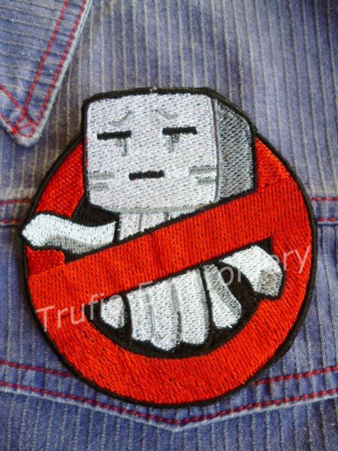 No Creeper - Minecraft inspired - iron-on patch/badge by Trufio on Etsy