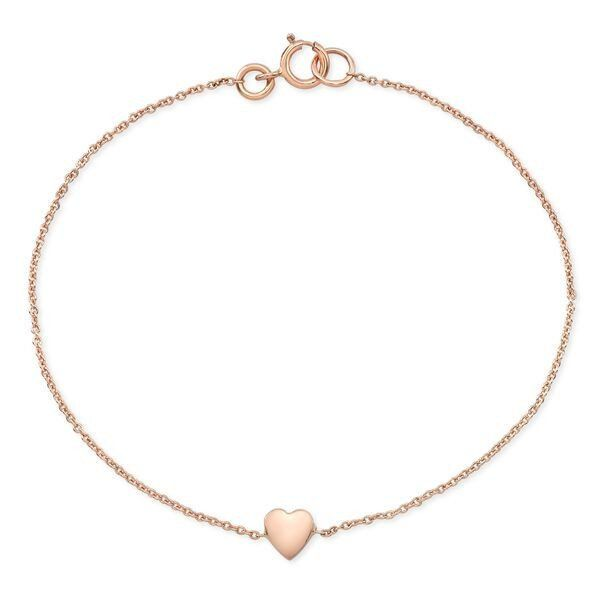 #sale   Online sale today on all heart bracelets, necklaces and earrings #paulinajewelry #handmade #Dainty heart bracelets made by hand in solid gold & Italian gold chains. Available in rose, yellow and white gold and also in 18K & with diamonds. Made by hand in USA.