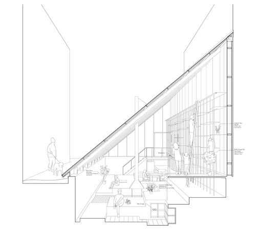 awfu: alley orangerie - sectional perspective