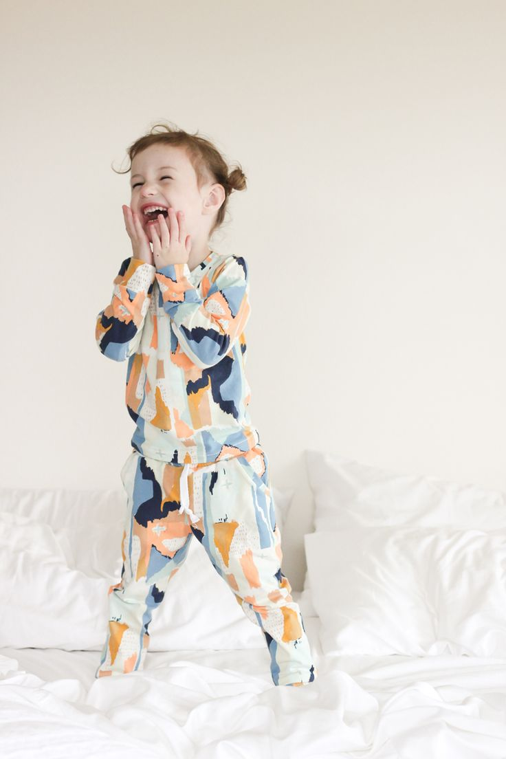 Modern Pajamas in #artgalleryfabic #bound knit // Delia Creates