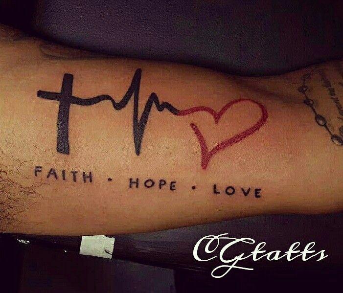 30+ Amazing Faith Love Hope Tattoo - Designs & Meanings ... |Faith Hope Love Tattoo For Men