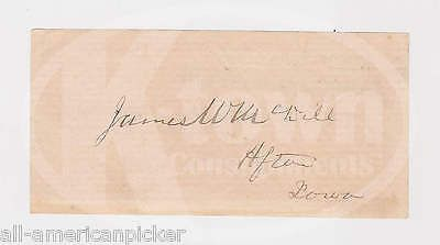 JAMES W. McDILL IOWA SENATOR INTERSTATE COMMERCE COMMISSION AUTOGRAPH SIGNATURE