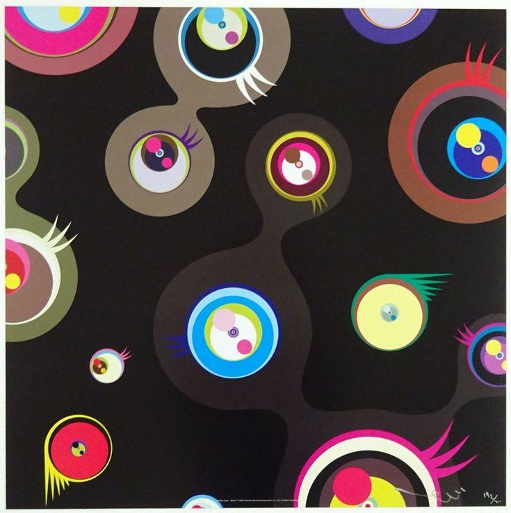 Takashi Murakami, Jellyfish eyes - Black 2