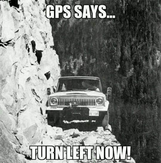 GPS says…