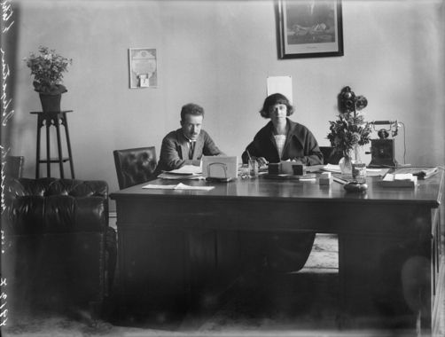 Alexandra Kollontai And Marcel Body Fr In The Soviet Legation In