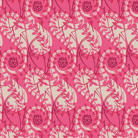 Paisley Block Print pinks fabric by modernprintcraft on Spoonflower - custom fabric