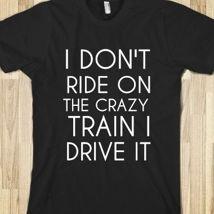 Crazy Train from Glamfoxx Shirts