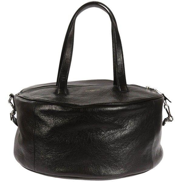 Air Hobo Bag ($1,264) ❤ liked on Polyvore featuring bags, handbags, shoulder bags, noir, womenbags, hobo shoulder bags, hobo shoulder handbags, balenciaga handbags, hobo handbags and balenciaga purse