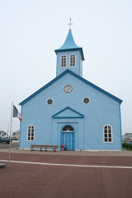 Church on Miquelon 2009    Miquelon's wooden church is a beautiful traditional building with many old artifacts.   Saint-Pierre & Miquelon