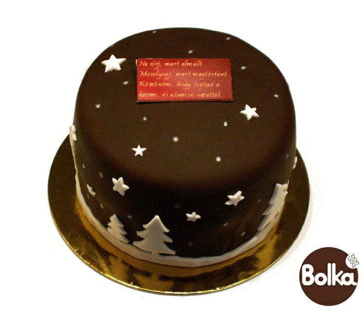 Decorated xmas cake/karácsonyi dísztorta
