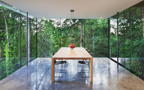 Imagine if this was your dining room!  A coastal home in West Vancouver by @splycedesign an entirely glasses-in box that cantilevers out towards the surrounding forest. #glass #architecture #interiordesign #picoftheday #design #dining #home #project #architecturelovers #archidaily #australia #nature #glassenvy #sleek #style #city #art #minimal #photo #architectureporn #art #amazing #instagood #interiordesign #buildingdesign #love #instanature #forest #green