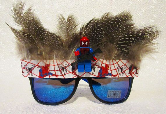 Superhero Sunglasses Party Pack Your favorite superheros immortalised, forever throwing shade at their nemesis. In this party pack you get 4 x Superhero sunglasses *Superman *Batman *Spiderman *Thor For orders over 10 pairs, please message me for a bespoke party package for you.
