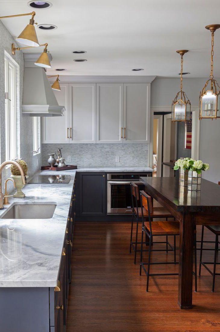 My Favorite Tuxedo Kitchens Blue Door Living Kitchen Cabinet Design Kitchen Design Kitchen Renovation