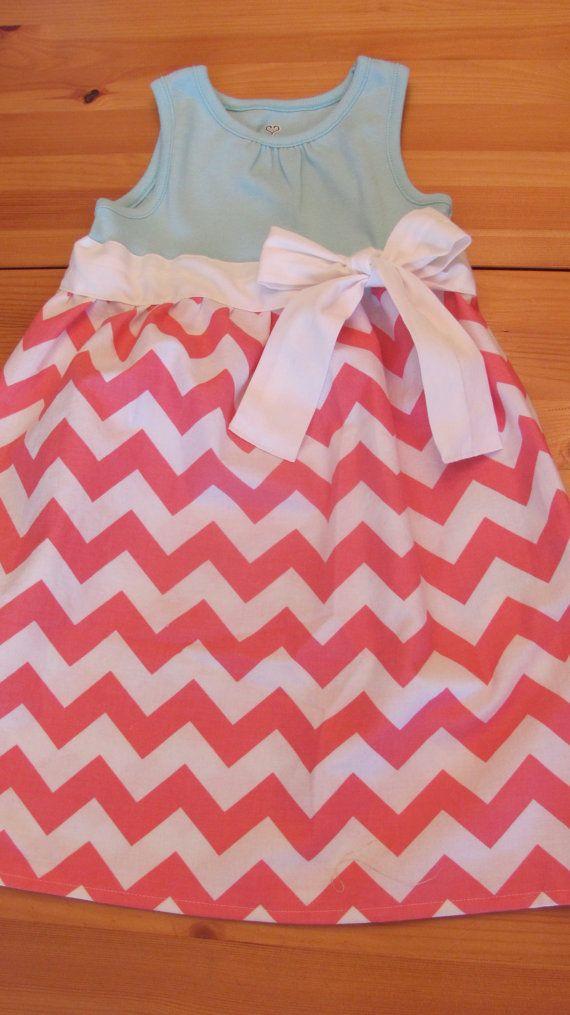 cheveron shirt dress | Girls 2t Pink Chevron T Shirt Dress