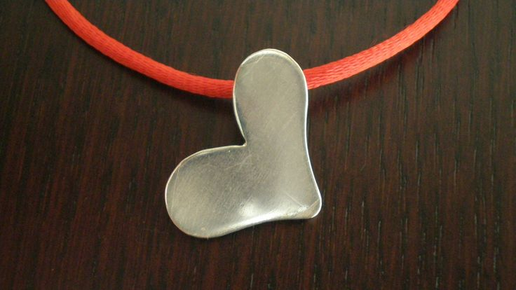 Handmade Silver Heartshaped Pendant / Bookmark by IoJewellery on Etsy