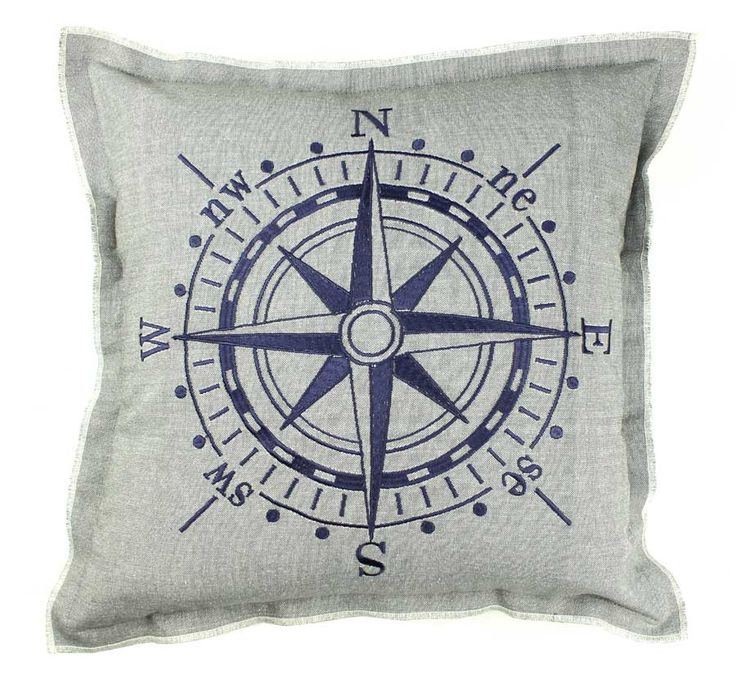 Nautical Compass Cushion - might be able to DIY