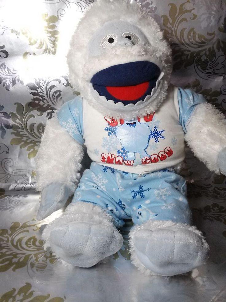 "Build-A-Bear BUMBLE Rudolph Abominable Yeti Snowman 16"" Plush with Pajamas #BuildABear"