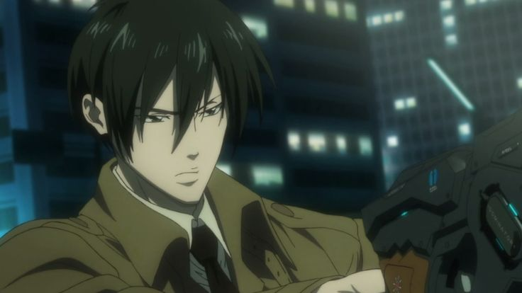 Psycho Pass 2 Anime - Ginoza. [spoiler] Becomes an Enforcer, and suddenly he's even hotter. <3