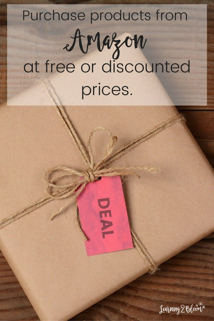 Purchase Amazon products at extremely discounted prices and many for free! I've received free skin care products, household supplies, and more all for free and you can too!