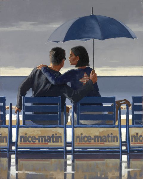 "Jack Vettriano - ""Blue Blue"" - Oil on canvas, 2012"