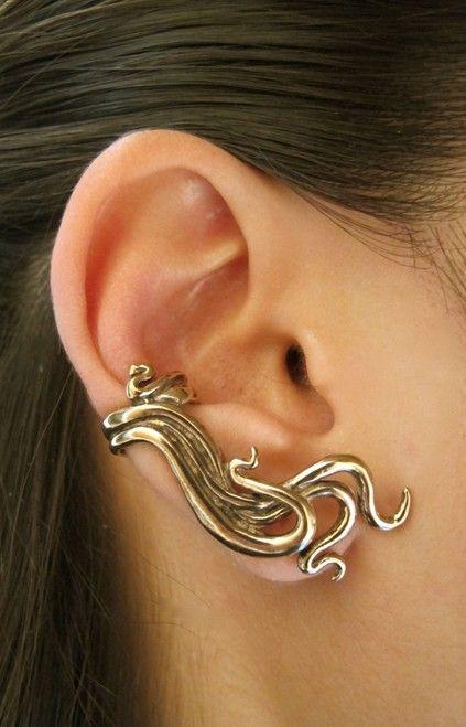Wave Ear Cuff - Bronze