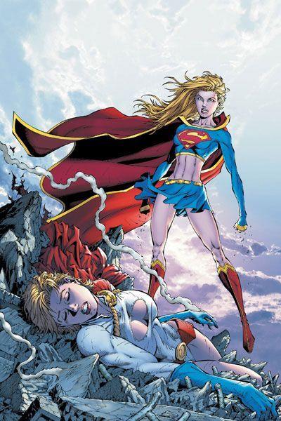 Supergirl defeats Power Girl.