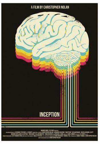 Alternative movie posters. I think this one for 'Inception' is the bee's knees.