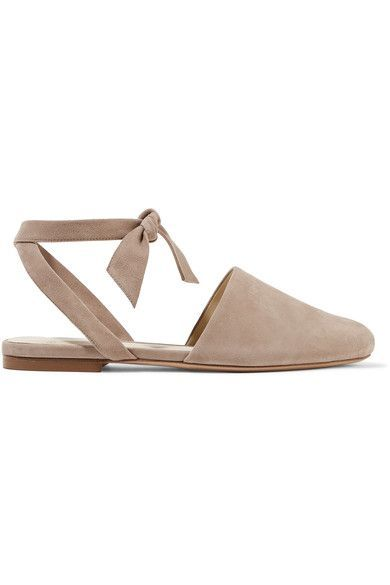 Alexandre Birman - Lace-up Suede Flats - Taupe - IT38.5