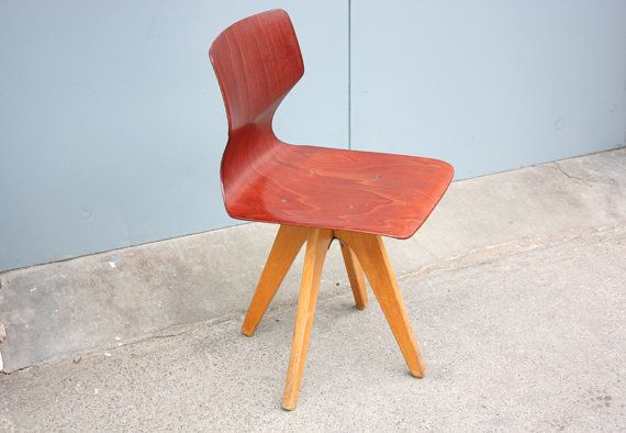 Pagholz flototto pagwood retro chair danish 70s bauhaus for Bauhaus eames chair