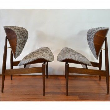 Pair Of Clam Chairs By Seymour J. Wiener For Kodawood. ClamsDanish ModernModern  FurniturePhiladelphiaMid Century