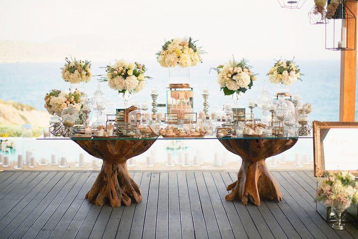 Luxurious Wedding Dessert Table of Marina Łuczenko and Wojciech Szczęsny Planned by DeplanV
