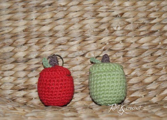 Crochet Apple Lip Balm Holder PDF Pattern by TMKCrochet