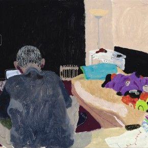 """Wang Yuping, """"The Back"""", 60 x 80 cm, 2012"""